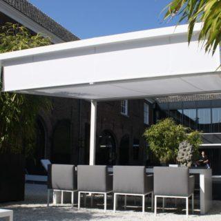 Cubola vrijstaande overkapping veranda zonwering Horeca terras restaurant