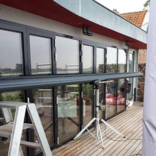 Frema zonwering Rhenen Sensation knikarmscherm terrasscherm