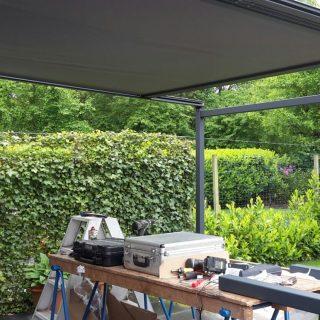 veranda project met zonwering terrasoverkapping vrijstaande zonwering overkapping