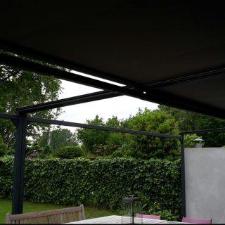terraszonwering zonnescherm zonwering veranda vrijstaande terrasoverkapping overkapping