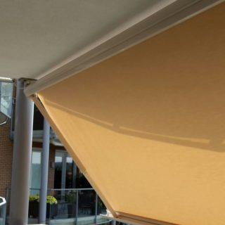 balkonscherm knikarmscherm balkon Veenendaal