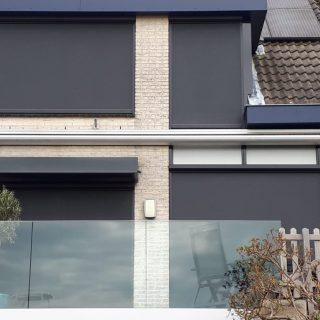 Screens Wageningen mat zwart zonwering screen zonneschermen FREMA Zonwering Rhenen Veenendaal Ede Utrecht Gelderland Betuwe e.o.