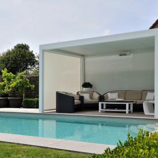 aluminium veranda's veranda's en buitenleven overkapping Cubola tuin terras zwembad veranda met screens Frema zonwering Rhenen Veenendaal Ede Wageningen Utrecht e.o.