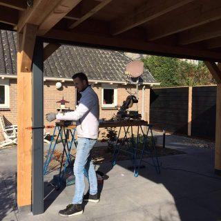 glasschuifwandsysteem houten douglas veranda glazen deuren terrasoverkapping tuinkamer Rhenen Tiel Veenendaal