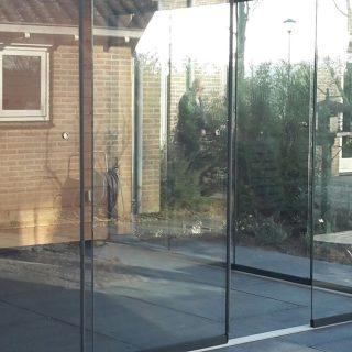 glazen deuren glasschuifwandsysteem douglas veranda terrasoverkapping tuinkamer Veenendaal Tiel Rhenen