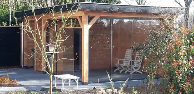 Glasschuifwandsysteem douglas veranda