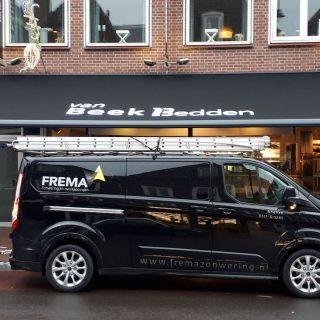 knikarmscherm zonwering Rhenen bedrijven winkel Veenendaal Utrecht