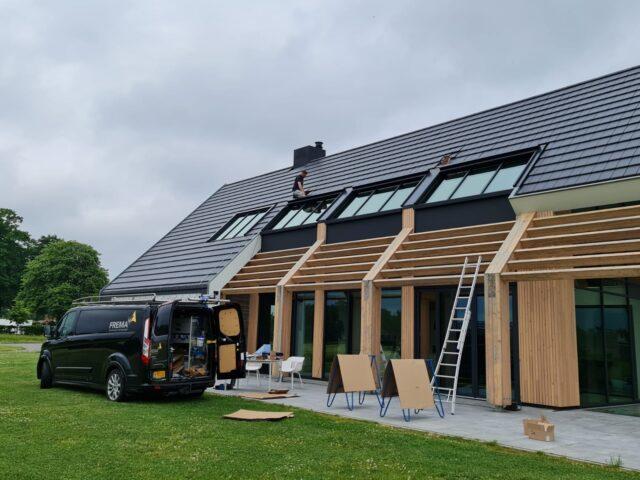 lichtstraat zonwering dak ramen serre nieuwbouw glas Frema zonwering Rhenen Veenendaal Wageningen Ede Betuwe Gelderland Utrecht eo