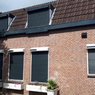 rolluiken op zonne-energie Huissen solarrolluiken zonnepaneel draadloos Huissen FREMA Zonwering Rhenen Veenendaal Ede Wageningen Utrecht Gelderland Betuwe eo