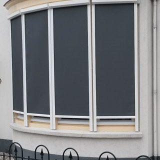Screens erker Driebergen Zeist bedrijfspand zonwering zonwerende screens