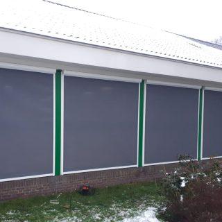 screens school gebouw Driebergen Frema zonwering