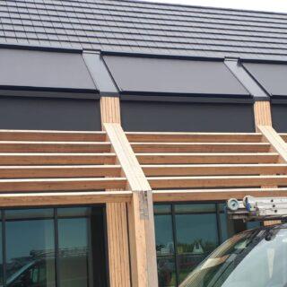screens solidsky Ede schuin dak serrezonwering Frema zonwering Rhenen Veenendaal Ede Wageningen Utrecht Gelderland Betuwe eo
