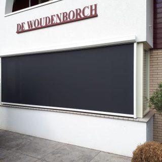 screens zonwering zonnewering zonneschermen antraciet vlakhangende screen Frema zonwering Rhenen Veenendaal Ede Wageningen Utrecht e.o.