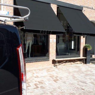 uitvalschermen bedrijven winkel horeca terras Rhenen Veenendaal