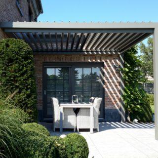 veranda met lamellendak lamellendaken veranda overkapping terrasoverkapping Frema zonwering Rhenen Veenendaal Ede Wageningen eo