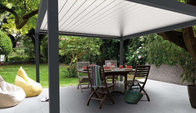 veranda met lamellendak
