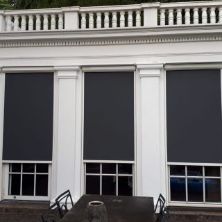 zonwering landgoed De Tangh Rhenen Frema zonwering Rhenen screens zipscreens XS
